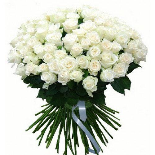 фото букета 101 белая роза