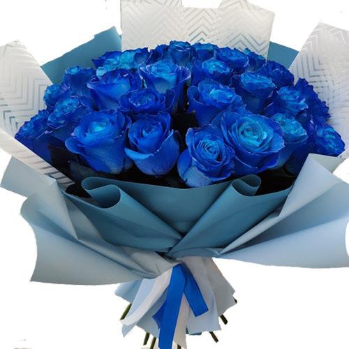 Фото товара 33 синие розы