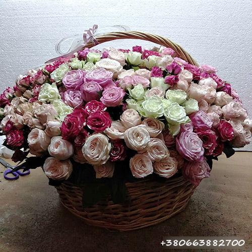 корзина роз фото