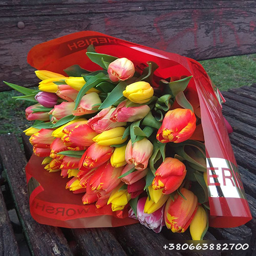 букет тюльпанов микс